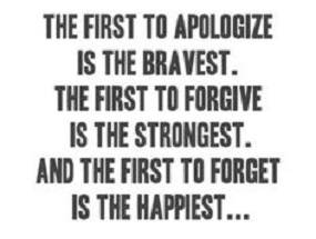 first to forgive